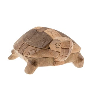 Hand-carved Wooden Turtle Puzzle (Cambodia)
