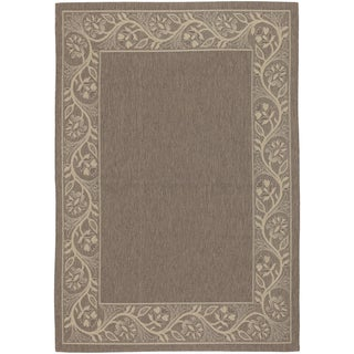Five Seasons Tuscana/ Brown-Cream Rug (3'7 x 5'5)