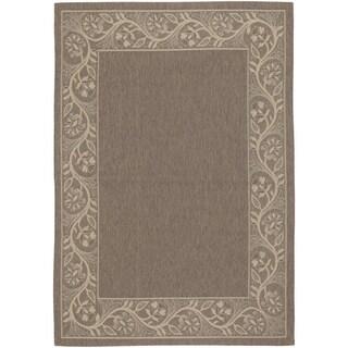 Couristan Five Seasons Tuscana/Brown-Cream Indoor/Outdoor Rug - 4'11 x 7'6