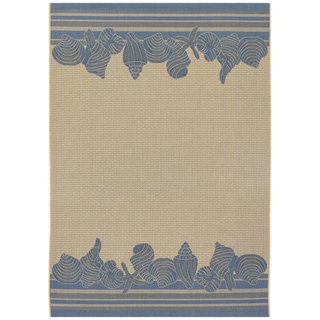 Five Seasons Shoreline/ Cream-Blue Area Rug (7'6 x 10'9)