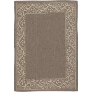 Five Seasons Tuscana/ Brown-Cream Rug (5'10 x 9'2)