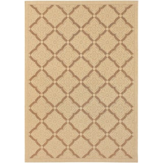 Five Seasons Sorrento/ Cream-Gold Area Rug (3'7 x 5'5)