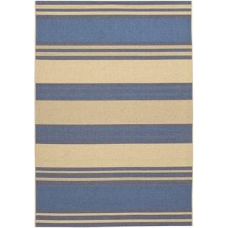 Five Seasons South Padre/ Blue-Cream Area Rug (5'3 x 7'6)