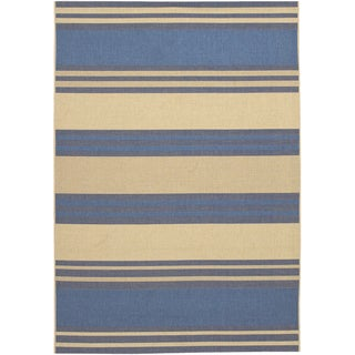 Five Seasons South Padre/ Blue-Cream Area Rug (5'10 x 9'2)