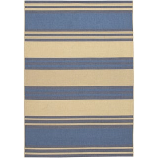 Five Seasons South Padre/ Blue-Cream Area Rug (8'6 x 13')