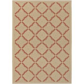 Five Seasons Sorrento/ Cream-Terra Cotta Area Rug (5'10 x 9'2)
