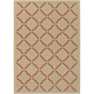Five Seasons Sorrento/ Cream-Terra Cotta Area Rug (7'6 x 10'9)