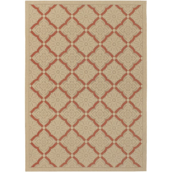 Five Seasons Sorrento/ Cream-Terra Cotta Area Rug (3'7 x 5'5)
