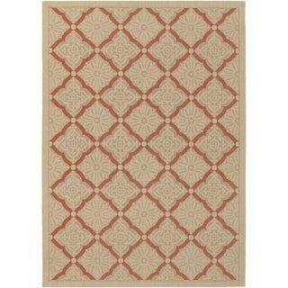 Five Seasons Sorrento/ Cream-Terra Cotta Area Rug (5'3 x 7'6)