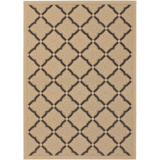 Five Seasons Sorrento/ Cream-Black Area Rug (3'7 x 5'5)