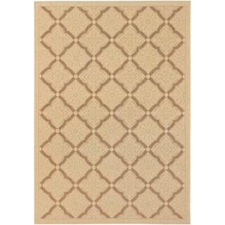 Five Seasons Sorrento/ Cream-Gold Area Rug (5'3 x 7'6)