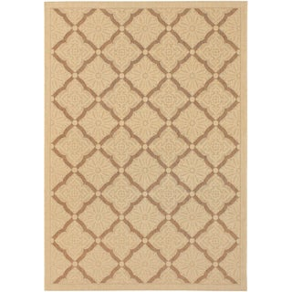 Five Seasons Sorrento/ Cream-Gold Area Rug (7'6 x 10'9)