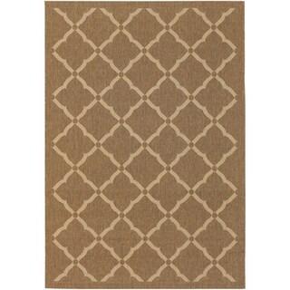 Couristan Five Seasons Sorrento/Gold-Cream Indoor/Outdoor Area Rug - 3'11 x 5'6