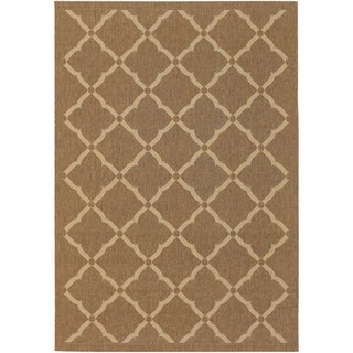 Couristan Five Seasons Sorrento/Gold-Cream Indoor/Outdoor Area Rug - 3'11 x 5'6