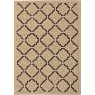 Couristan Five Seasons Sorrento/Cream-Black Indoor/Outdoor Rug - 5'10 x 9'2