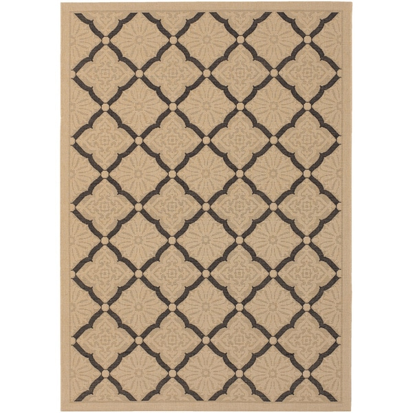 Couristan Five Seasons Sorrento Cream/ Black Rug (9'2 x 12')