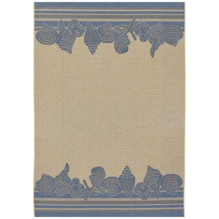 Five Seasons Shoreline Cream/ Blue Rug (3'7 x 5'5)