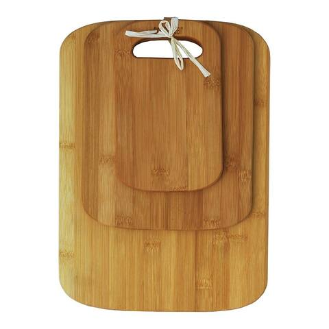 Oceanstar 3-Piece Bamboo Cutting Board Set