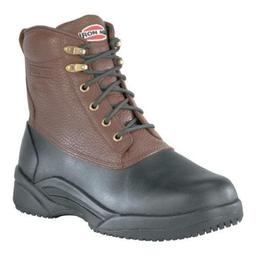 Women's Iron Age Compound Shaft Boot Black Rubber/Brown Leather