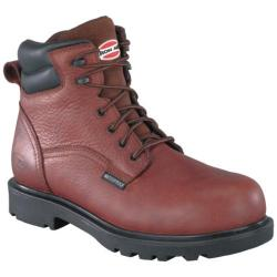 Men's Iron Age Hauler 6in Waterproof Work Boot Brown Leather