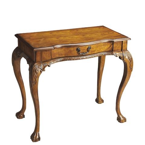 Oak-finish Writing Desk