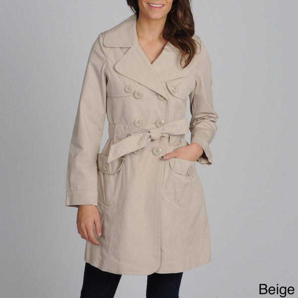 Women's 'Valencia' Double Breasted Trench Coat