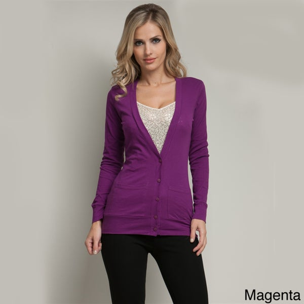 Stanzino Women's Button-up Front Pocket Cardigan