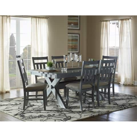 7-Piece Chester Rustic Farmhouse Dining Set