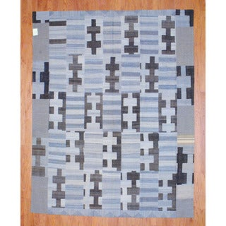 Herat Oriental Afghan Hand-woven 1960s Semi-antique Tribal Patchwork Kilim Multi-colored Wool Rug (7'8 x 9'8)