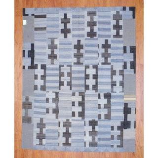 Herat Oriental Afghan Hand-woven 1960s Semi-antique Tribal Patchwork Wool Kilim (7'8 x 9'8)