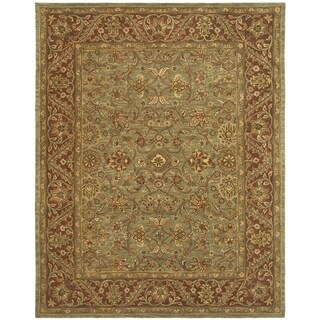 Safavieh Handmade Golden Jaipur Green/ Rust Wool Rug (11' x 15')