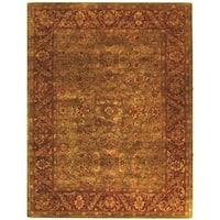 Safavieh Handmade Golden Jaipur Green/ Rust Wool Rug - 11' x 15'