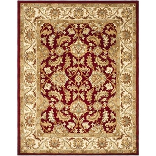 Safavieh Handmade Heritage Traditional Kashan Red/ Ivory Wool Rug (11' x 16')