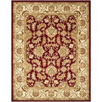 Safavieh Handmade Heritage Traditional Kashan Red/ Ivory Wool Rug - 11' x 16'