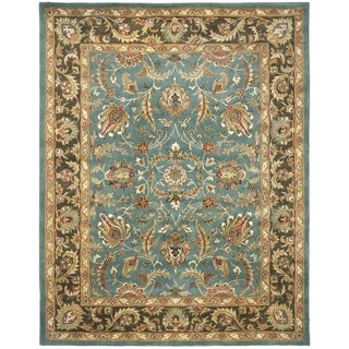 Safavieh Handmade Heritage Timeless Traditional Blue/ Brown Wool Rug (11' x 16')