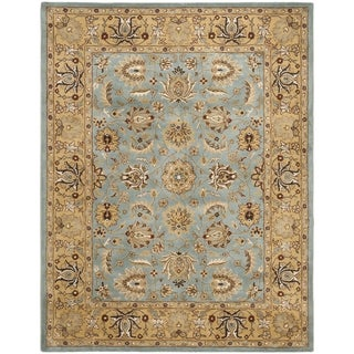 Safavieh Handmade Heritage Timeless Traditional Blue/ Gold Wool Rug (11' x 16')