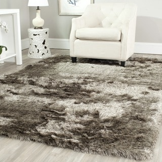 Safavieh Handmade Silken Glam Paris Shag Sable Brown Polyester Rug (11' x 15')