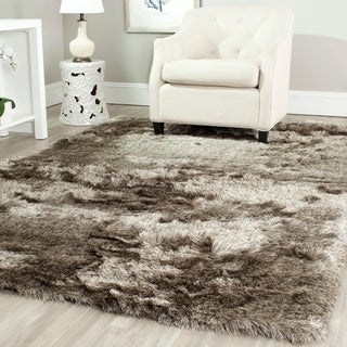 Safavieh Handmade Silken Glam Paris Shag Sable Brown Rug - 11' x 15'