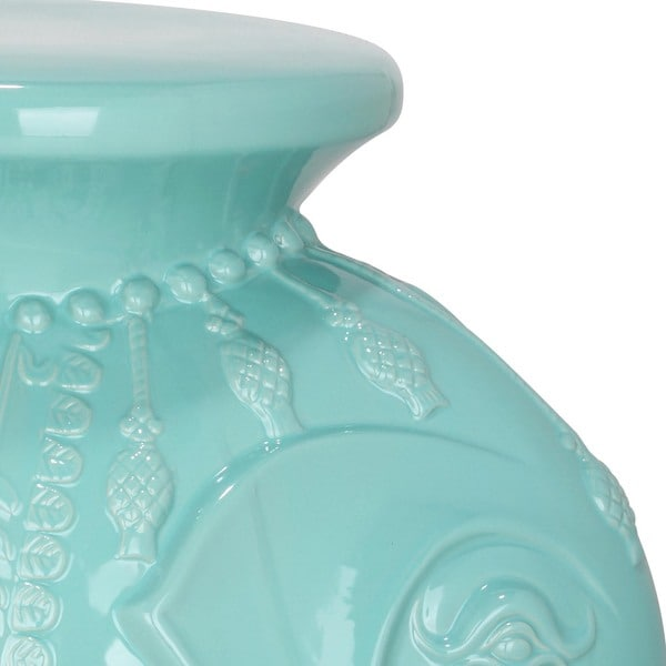 Safavieh Paradise Elephant Light Blue Ceramic Garden Stool   Free Shipping  Today   Overstock.com   15132281