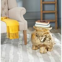 Safavieh Paradise Elephant Gold Ceramic Garden Stool