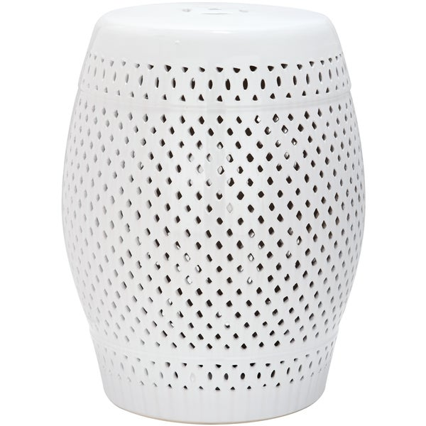 Safavieh Paradise Courtyard White Ceramic Garden Stool - Free Shipping Today - Overstock.com - 15132288  sc 1 st  Overstock.com & Safavieh Paradise Courtyard White Ceramic Garden Stool - Free ... islam-shia.org