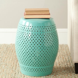 Safavieh Paradise Courtyard Light Blue Ceramic Garden Stool