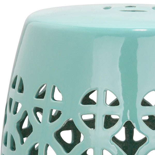 Safavieh Paradise Tranquility Light Blue Ceramic Garden Stool   Free  Shipping Today   Overstock.com   15132293