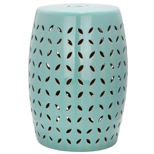 Safavieh Paradise Zen Light Blue Ceramic Garden Stool Free