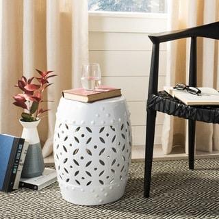 Link to Safavieh Paradise Harmony White Ceramic Decorative Garden Stool Similar Items in Outdoor Decor