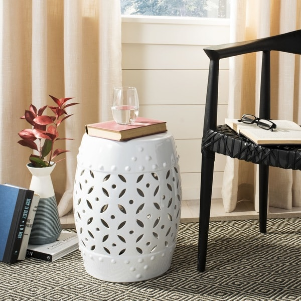 Shop Safavieh Paradise Harmony White Ceramic Garden Stool