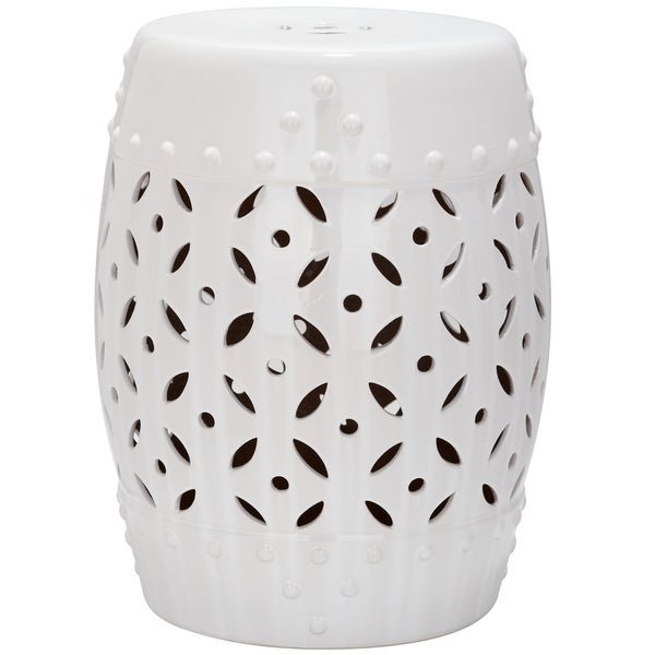 safavieh paradise harmony white ceramic garden stool free shipping today