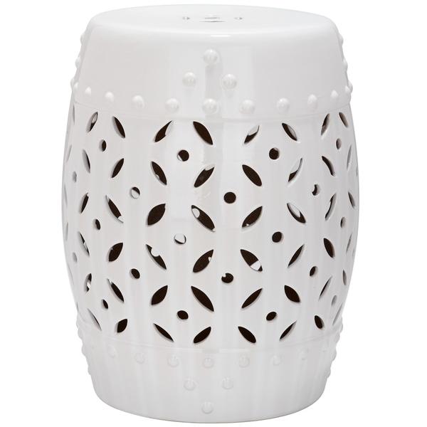 Safavieh Paradise Harmony White Ceramic Garden Stool