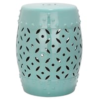 Safavieh Paradise Harmony Light Blue Ceramic Garden Stool