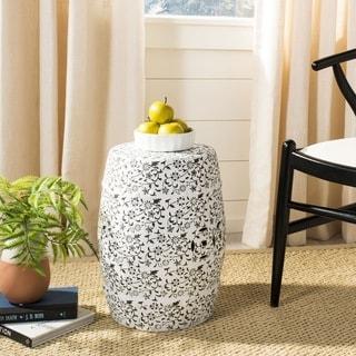 Safavieh Paradise Scrolls White Ceramic Decorative Garden Stool